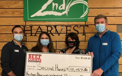 TYSON FOODS DONATION AND BEEF COUNTS DONATION – OCTOBER 2