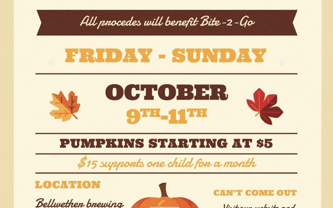 BITE2GO PUMPKIN DRIVE AND VOICES OF HOPE – OCTOBER 9